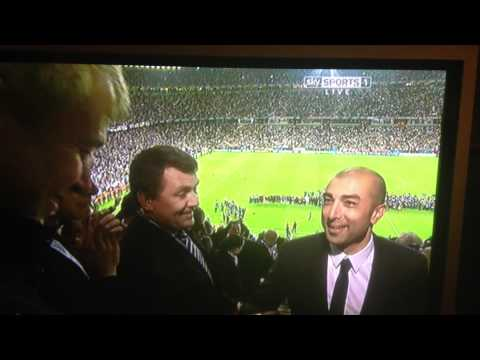"Roberto Di Matteo - ""We Won It"" to Roman Abramovich"