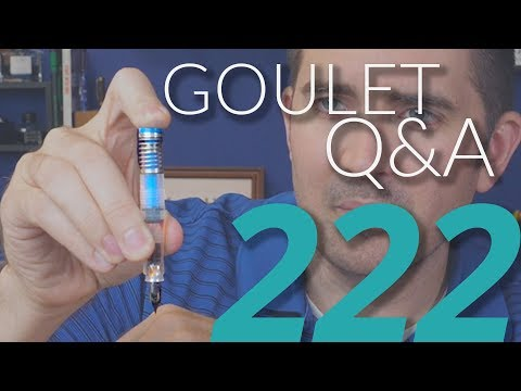 Goulet Q&A 222: Bladder Pens, and Recognizing Fountain Pen Friendly Paper