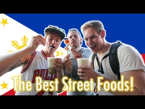 FIRST DAY IN PHILIPPINES! - FILIPINO STREET FOOD HALO HALO?!
