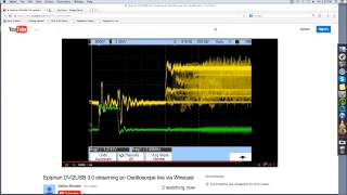 Live Streaming an Oscilloscope using an Epiphan DVI2USB 3.0 Video Grabber and Wirecast for YouTube