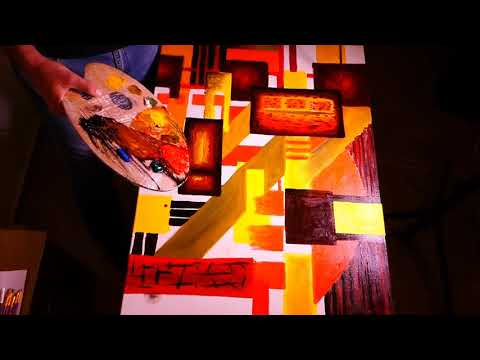 Cubism Abstract Art With Oil Painting | Demo Fun & Easy