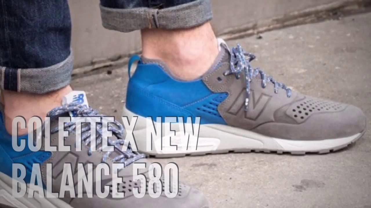 new balance 580 deconstructed on feet
