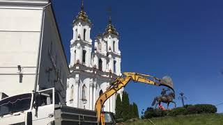 Земляные работы на месте гостиницы Брози в Витебске
