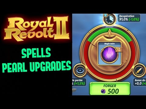ROYAL REVOLT 2 - SPELLS PEARL UPGRADES TIPS