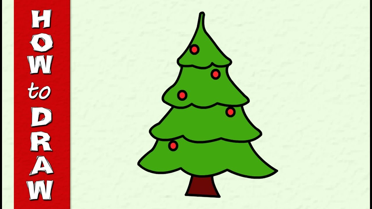 KIds Drowing Education   How to Draw a Christmas Tree   Simple Drawing video   Drawing for ...