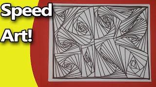 Doodle Coloring Page: Speed Doodle: Zen Doodle