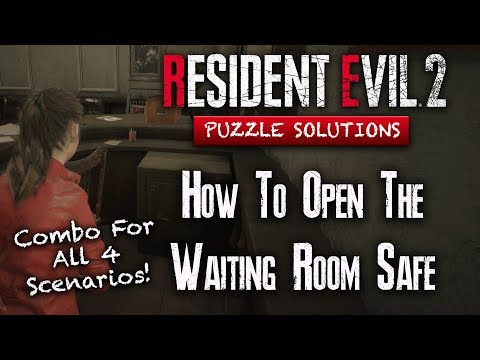 Resident Evil 2 Remake | How To Open The Safe | Waiting Room | ALL SCENARIOS