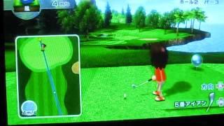 wii sports resort ゴルフ 奇跡のショット集 平成24年4月2日作成 撮影