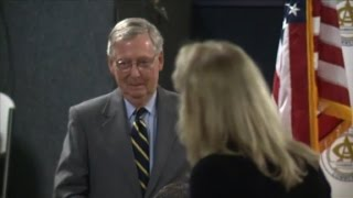 Woman berates McConnell at luncheon(A frustrated woman yells at Sen. Mitch McConnell as congressional Republicans are facing angry constituents back home., 2017-02-22T14:31:23.000Z)