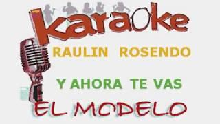 RAULIN ROSENDO Y AHORA TE VAS KARAOKE