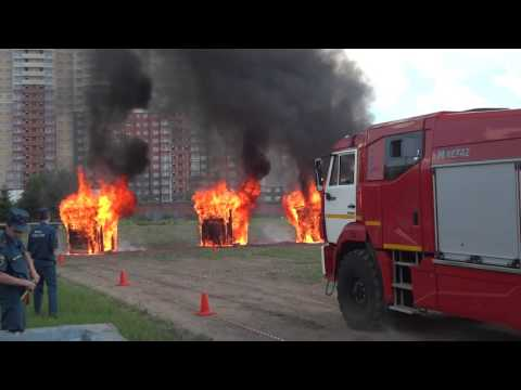КАМАЗ тушение пожара системой HIROMAX