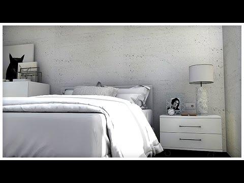 Diseño Interior: Paredes de hormigón. Apartamento 52 m2 - YouTube