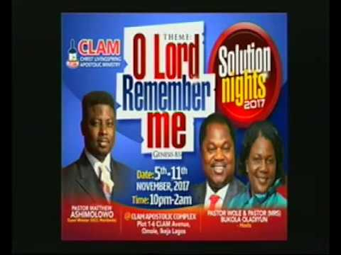SOLUTION NIGHT 2017 DAY 1 (THEME:- O LORD REMEMBER ME ... GEN 8:1)