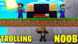 TROLLING NOOB PLAYERS IN BED WARS - MINECRAFT BED WARS | JeromeASF