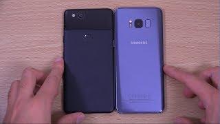 Google Pixel 2 vs Samsung Galaxy S8 - Speed & Camera Test!