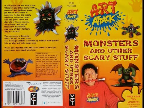 Art Attack - Monsters And Other Scary Stuff (2002, UK VHS) (2/2)