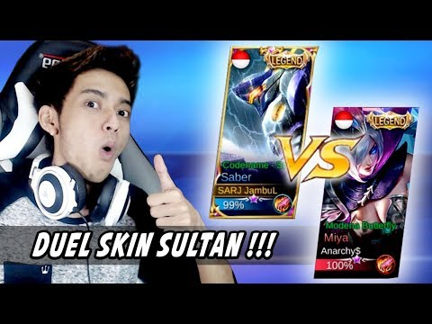 DUEL SKIN SULTAN! SABER LEGEND VS MIYA LEGEND ft. Watchout Gaming - Mobile Legends Indonesia