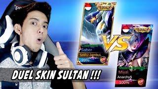 DUEL SKIN SULTAN! SABER LEGEND VS MIYA LEGEND ft. Watchout Gaming - Mobile Legends Indonesia