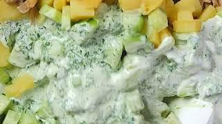 Быстрый салат с картофелем и грибами | Салат с грибами и кукурузой