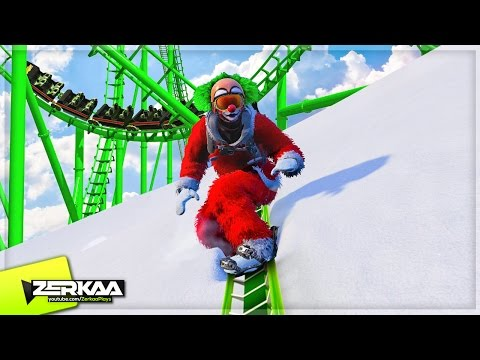 SKIING ON A ROLLERCOASTER! (Steep Multiplayer)