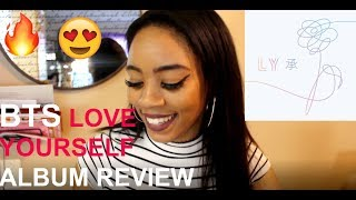 Video BTS LOVE YOURSELF 承 'HER' FULL ALBUM REACTION / FIRST LISTEN download MP3, 3GP, MP4, WEBM, AVI, FLV Mei 2018