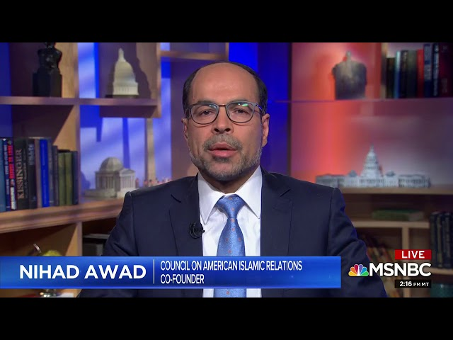Video: CAIR Director Nihad Awad Interviewed on MSNBC About Trump's Tweet Endangering Ilhan Omar