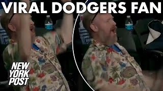 Nobody was more excited during Dodgers' win than this crotch-chopping fan | New York Post