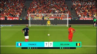 FRANCE vs BELGIUM | Penalty Shootout | GRIEZMANN vs HAZARD | PES 2018 Gameplay PC