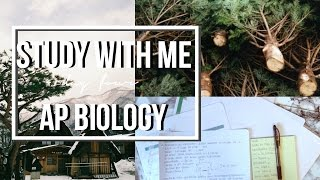 study with me for finals   ap biology
