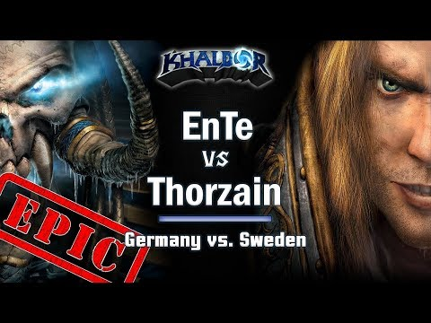 ► EPIC! WarCraft 3 - Thorzain vs. EnTe - Germany vs. Sweden
