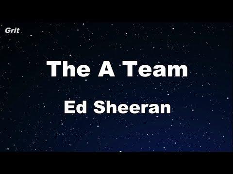 The A Team - Ed Sheeran Karaoke 【No Guide Melody】 Instrumental