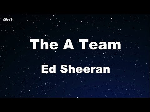 The A Team - Ed Sheeran Karaoke 【No Guide Melody】 Instrumental