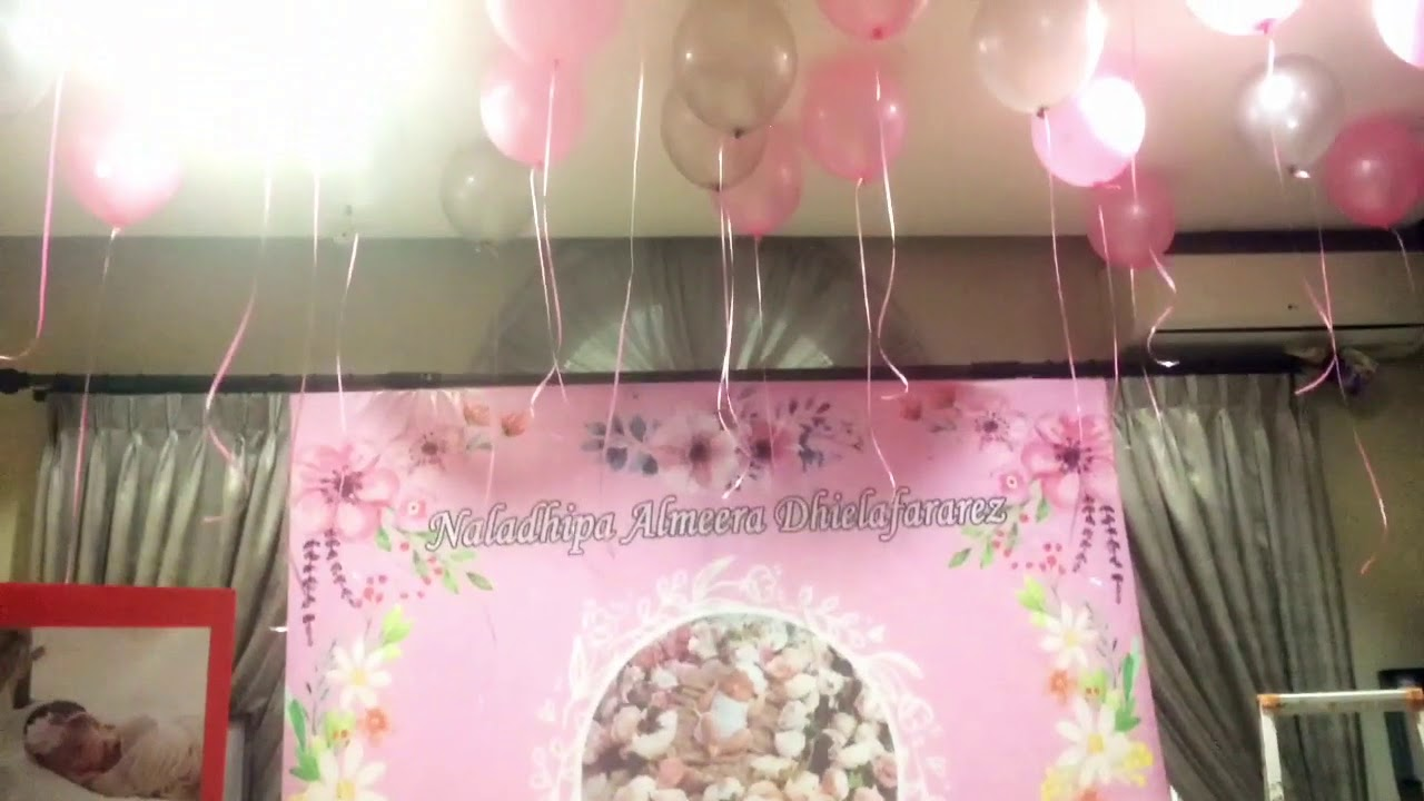 Aqiqah Decoration With Balloon And Banner Youtube