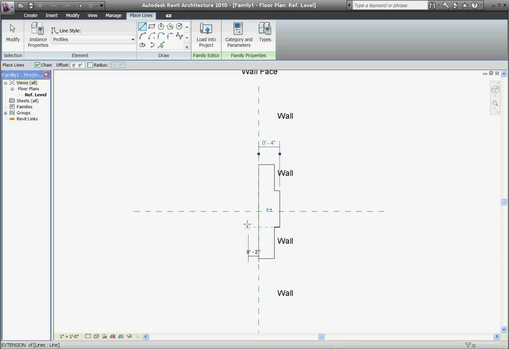 Easy Revit 2010 7 Custom Wall Reveals And Sweeps