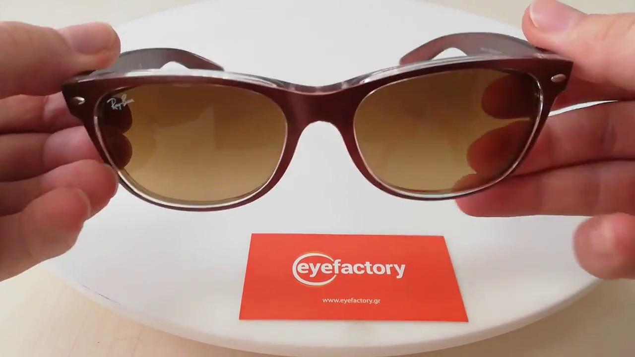 8f569c4295 Ray-Ban Sunglasses New Wayfarer Color Mix RB2132 614585 - YouTube