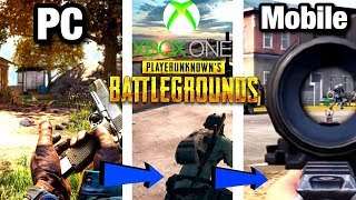 PUBG ON ALL PLATFORMS COMPARISON! - PUBG MOBILE, PC, XBOX ONE