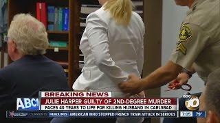 Julie Harper handcuffed after guilty verdict is read