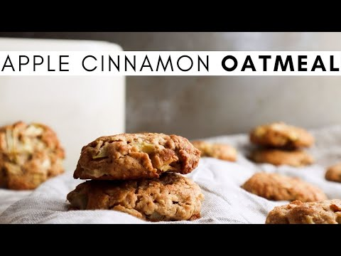 How To Bake Homemade Apple Cinnamon Oatmeal Cookies From Scratch