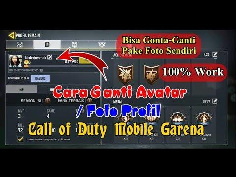 Cara Ganti Foto Profil Avatar Game Call Of Duty Mobile Garena Dengan Foto Sendiri Youtube