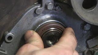 1.9 turbo diesel снимаем и устанавливаем сальник коленвала часть 12