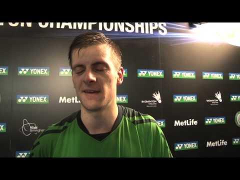 Yonex All England 2014 Post Match interview with Hans Kristian Vittinghus