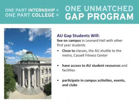 American University Gap Program Webinar