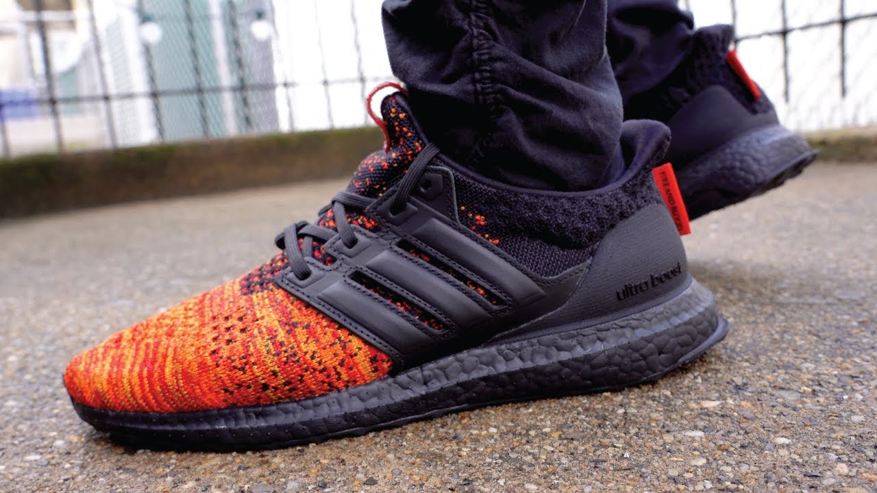 Quemar Flotar Tradicion  Game of Thrones X Adidas UltraBoost House Targaryen Dragons GOT Review & On  Feet - YouTube