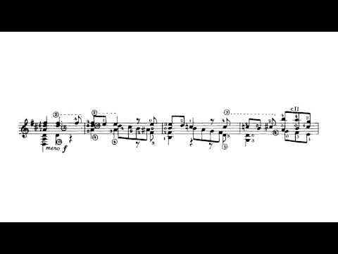 Chaconne BWV 1004 by J S Bach Transcription by Andres Segovia with Sheet Music