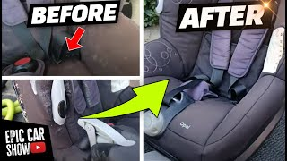 How to Clean Child Car Seats at home using THE SAFE WAY!!!
