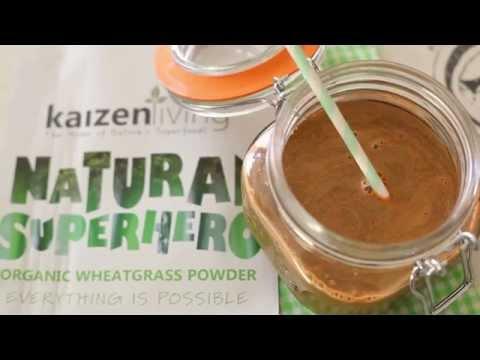 Lemon & Ginger Zinger using Kaizen Living® Organic Wheatgrass by Little Miss Meat-Free