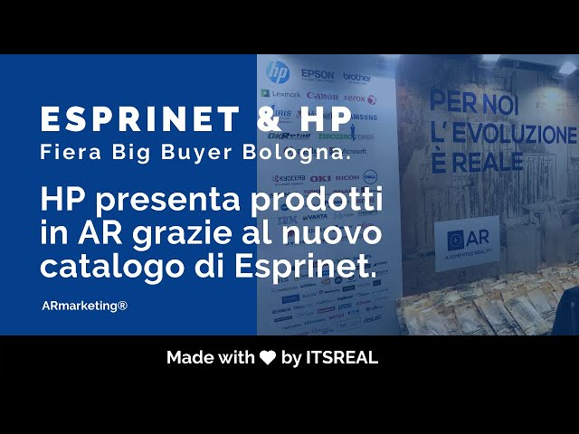 Esprinet S.p.a insieme al brand  Hp | Catalogo in realtà aumentata | AR marketing