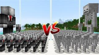 SLENDERMAN ORDUSU VS İSKELET ORDUSU! - Minecraft