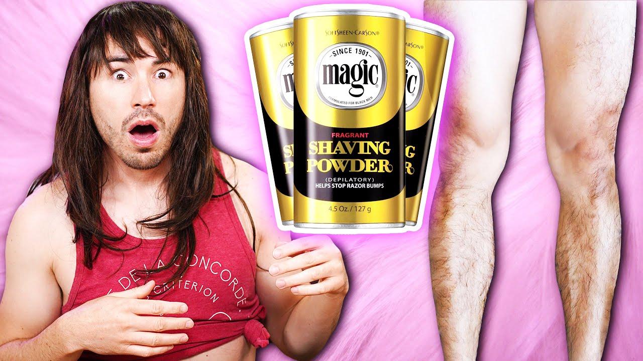 Men Try Magic Shaveless Shaving Powder Powdered Nair Hair Removal Youtube