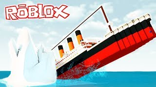 ¡SOBREVIVE AL TITANIC EN ROBLOX! ??️ ¡CHOCAMOS CONTRA UN ICEBERG!